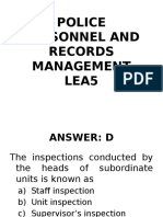 Lea 5) Police Personnel and Records Management | Performance
