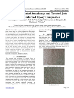 Studies on Treated Sunnhemp and Treated Jute Fibre Reinforced Epoxy Composites