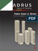Calorifere Fonta Kalor Termo Pliant Date Tehnice