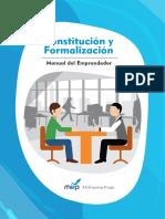 Constitucion y Formalizacion - Manual Del Emprendedor