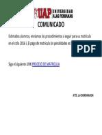 Comunicado II