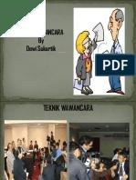 Kuliah Pengantar Teknik Wawancara