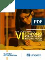 Vi Simposio Jornada de Investigacion 2015