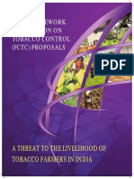 WHO FCTC a Threat to the Livelihood of Tobacco Farmers in India September 2016