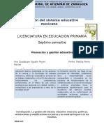 La Gestión Del Sistema Educativo Mexicano