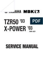 Yamaha TZR 50 X-Power 03 Service Manual ENG