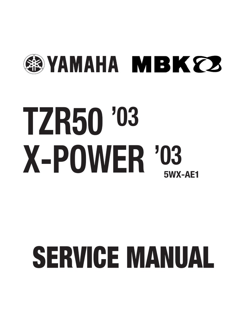 yamaha tzr 50 x power 03 service manual eng motor oil engines rh scribd com yamaha tzr 50 2008 service manual SSI Ro TZR 50
