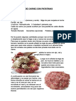 Albondigas de Carne Con Patatinas