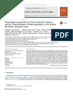 2016 - Hematological Parameters of Three Freshwater Stingray