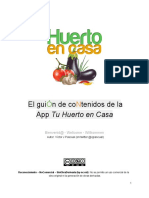 El GUION de La App Tu Huerto en Casa