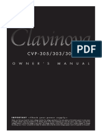 Clavinova CVP305 User Manual