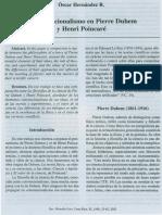 El Convencionalismo en Pierre Duhem y Henri Poincare