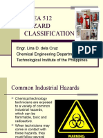 CHEA 512 Safety in Process-Hazard Classification
