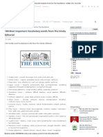 100 Most Important Vocabulary Words From the Hindu Editorial - QMaths_ SSC CGL Guide