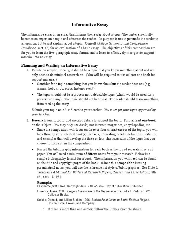 Resume CV Cover Letter resume examples sample informative essays – Informative Essay Example