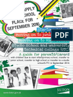 How to Apply for a School Place for September 2014 Guide