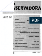 Revista Conservadora No. 11 Ago. 1961