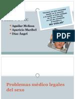 Problemas Medico Legales Del Sexo