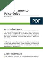 Aconselhamento Psicológico - Aula 1