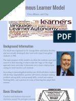 autonomous learner model presentation