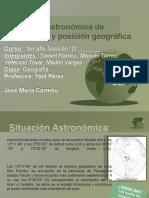 Situación Astronómica de Venezuela y Posición Geográfica