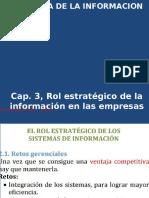 Cap.3, Rol Estrategico de La Informacion en Las Empresas