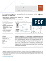 Investigation of Compression Ratio and Fuel Effect on Combustion and PM Emissions in a DISI Engine 2016 Fuel