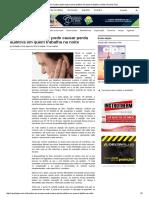 Barulho Em Excesso Pode Causar Perda Auditiva Em Quem Trabalha Na Noite _ Revista Cipa