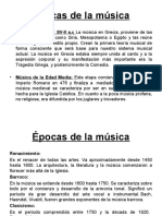 Epocas de La Musica