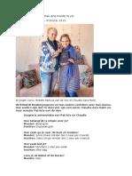 2 INTERVIEW Moslimjongeren en Hun Ouders Vertellen Over Hun Levens, Hoe Anders Zijn Die. in Deel Vier Van Een Serie, Claudia Zara Hahn en Haar Moeder Patricia Van de Ven.