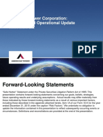 American Tower Financial and Operational Update