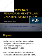 Kontrasepsi Dan Penundaan Haid Dlam Perspektif Islam