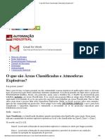 O Que São Áreas Classificadas e Atmosferas Explosivas
