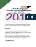 Facilidades Laborales Para Las Elecciones Generales 2016