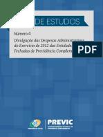 4ª Série de Estudos - Despesas Administrativas 2012