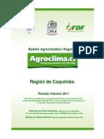 Informe Agrometeorologico Febrero 2011 Coquimbo