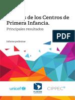 Análisis de Los Centros de Primera Infancia. Principales Resultados