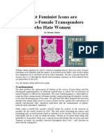 Most Feminist Icons Are Male-To-Female Transgenders
