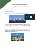 Elevaciones de Quito