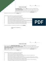 Titulos de Accion y Certificados Provisionales