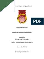 Instituto Tecnológico de Aguascalientes Proyecto Simulacion