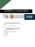 Gerencia Financiera - Ing. Economica