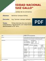 Fichas Tecnicas. Campos Nuñez