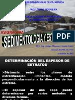 DETERMINACION ESPESOR ESTRATOS
