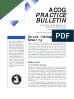 Citología Cervical Screening ACOG