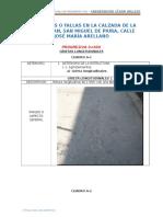 Deterioros o Fallas en La Calzada de La Av