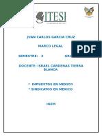 Ensayo de Sindicatos y Impuestos en Mexico