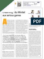 21052010 - Le Journal des Télécoms - E-learning du Minitel aux serious games