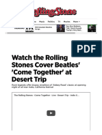 Watch the Rolling Stones Cover Beatles' 'Come Together' - Rolling Stone