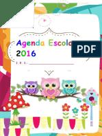 Agenda Escolar 2016 Editable